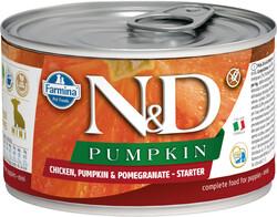 N&D (Naturel&Delicious) - ND 5759 Starter Mini Balkabak, Tavuk, Nar Yavru Başlangıç Köpek Konservesi 140 Gr