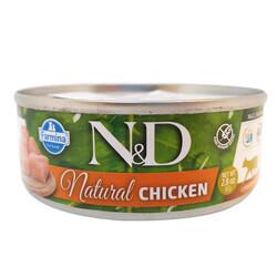 N&D (Naturel&Delicious) - ND 6282 Natural Tavuk Etli Kedi Konservesi 80 Gr
