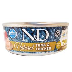 N&D (Naturel&Delicious) - ND 6299 Natural Ton Balığı ve Tavuk Etli Kedi Konservesi 80 Gr