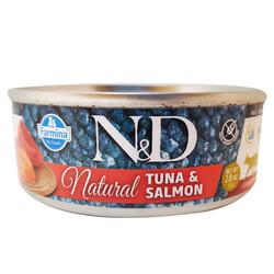 N&D (Naturel&Delicious) - ND 6305 Natural Ton Balığı ve Somonlu Kedi Konservesi 80 Gr