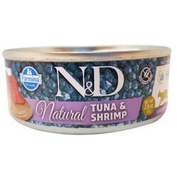N&D (Naturel&Delicious) - ND 6312 Natural Ton Balığı ve Karidesli Kedi Konservesi 80 Gr
