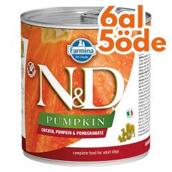 N&D (Naturel&Delicious) - ND Balkabaklı Tavuk Etli ve Narlı Köpek Konservesi 285 Gr - 6 Al 5 Öde