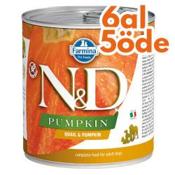 N&D (Naturel&Delicious) - ND Balkabaklı ve Bıldırcınlı Köpek Konservesi 285 Gr - 6 Al 5 Öde