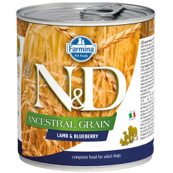 N&D (Naturel&Delicious) - ND Düşük Tahıl Kuzu Etli ve Yaban Mersinli Köpek Konservesi 285 Gr