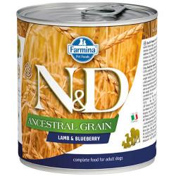 N&D (Naturel&Delicious) - N&D Düşük Tahıl Kuzu Etli ve Yaban Mersinli Köpek Konservesi 285 Gr