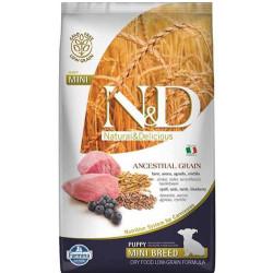 N&D (Naturel&Delicious) - ND Düşük Tahıl Kuzu Yaban M. Küçük Irk Yavru Köpek Maması 2,5 Kg+5 Adet Temizlik Mendili