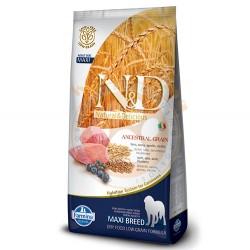 N&D (Naturel&Delicious) - N&D Düşük Tahıl Kuzulu Büyük Irk Köpek Maması 12 Kg+10 Adet Temizlik Mendili