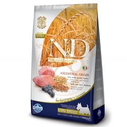 N&D (Naturel&Delicious) - N&D Düşük Tahıl Kuzu Yaban Mersini Küçük Irk Köpek Maması 2,5 Kg+5 Adet Temizlik Mendili