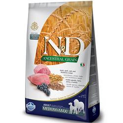 N&D (Naturel&Delicious) - ND Düşük Tahıl Kuzu Yaban Mersini Orta ve Büyük Irk Köpek Maması 2,5 Kg+5 Adet Temizlik Mendili