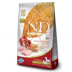 N&D (Naturel&Delicious) - ND Düşük Tahıl Light Orta ve Büyük Irk Tavuk Nar Köpek Maması 2,5 Kg + 5 Adet Temizlik Mendili