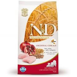 N&D (Naturel&Delicious) - ND Düşük Tahıl Puppy Mini Tavuk Nar Yavru Köpek Maması 7 Kg + 10 Adet Temizlik Mendili