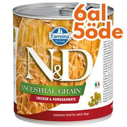 N&D (Naturel&Delicious) - ND Düşük Tahıl Tavuk Etli ve Narlı Köpek Konservesi 285 Gr - 6 Al 5 Öde