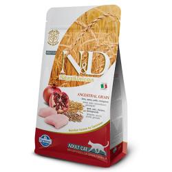 N&D (Naturel&Delicious) - ND Düşük Tahıllı Tavuk Nar Kedi Maması 5 Kg+5 Adet Temizlik Mendili