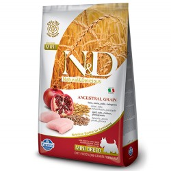 N&D (Naturel&Delicious) - ND Düşük Tahıl Tavuk Nar Küçük Irk Köpek Maması 7 Kg + 10 Adet Temizlik Mendili