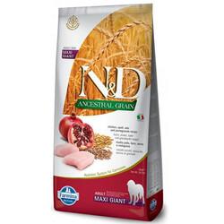 N&D (Naturel&Delicious) - ND Düşük Tahıl Giant Tavuk Nar Büyük Irk Köpek Maması 12 Kg + 10 Adet Temizlik Mendili