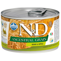 N&D (Naturel&Delicious) - N&D Düşük Tahıl Yaban Domuzu ve Elmalı Köpek Konservesi 140 Gr