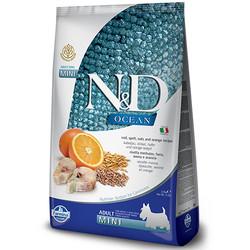 N&D (Naturel&Delicious) - ND Ocean Düşük Tahıl Balık Portakal Küçük Irk Köpek Maması 7 Kg+10 Adet Temizlik Mendili