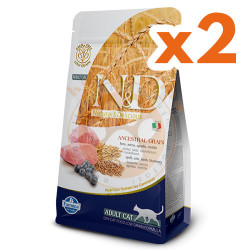 N&D (Naturel&Delicious) - N&D Düşük Tahıllı Kuzu Yaban Mersini Kedi Maması 1,5 Kgx2 Adet