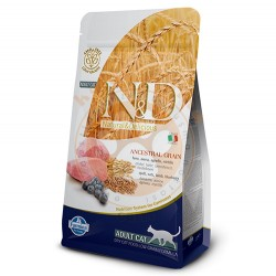 N&D (Naturel&Delicious) - ND Düşük Tahıllı Kuzu Yaban Mersini Kedi Maması 1,5 Kg + 100 Gr Yaş Mama
