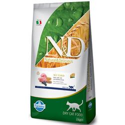 N&D (Naturel&Delicious) - ND Düşük Tahıllı Kuzu Yaban Mersini Kısırlaştırılmış Kedi Maması 10 Kg+10 Adet Temizlik Mendili