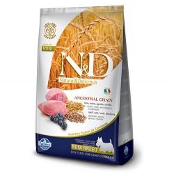 N&D (Naturel&Delicious) - N&D Düşük Tahıl Kuzu Yaban M. Küçük Irk Köpek Maması 7 Kg+5 Adet Temizlik Mendili