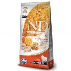 N&D (Naturel&Delicious) - ND Düşük Tahıl Balık Portakal Büyük Irk Köpek Maması 12 Kg+10 Adet Temizlik Mendili