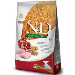 N&D (Naturel&Delicious) - ND Düşük Tahıllı Puppy Mini Tavuk Nar Küçük Irk Yavru Köpek Maması 2,5 Kg + 5 Adet Temizlik Mendili