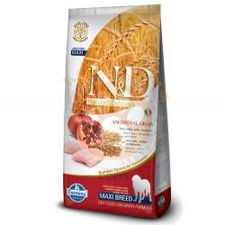 N&D (Naturel&Delicious) - ND Düşük Tahıl Tavuk Nar Büyük Irk Köpek Maması 12 Kg+10 Adet Temizlik Mendili