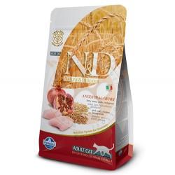 N&D (Naturel&Delicious) - ND Düşük Tahıllı Tavuk Nar Kedi Maması 1,5 Kg + 5 Adet Temizlik Mendili