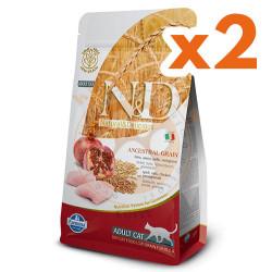 N&D (Naturel&Delicious) - ND Düşük Tahıllı Tavuk Nar Kedi Maması 1,5 Kgx2 Adet