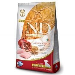 N&D (Naturel&Delicious) - N&D Düşük Tahıllı Tavuk Nar Küçük Irk Yavru Köpek Maması 2,5 Kg+5 Adet Temizlik Mendili