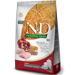 N&D (Naturel&Delicious) - ND Düşük Tahıllı Tavuk Nar Orta ve Büyük Irk Yavru Köpek Maması 2,5 Kg + 5 Adet Temizlik Mendili
