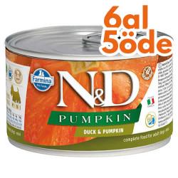 N&D (Naturel&Delicious) - ND Mini Balkabaklı ve Ördek Etli Köpek Konservesi 140 Gr - 6 Al 5 Öde