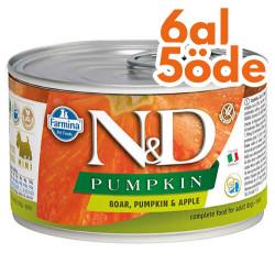 N&D (Naturel&Delicious) - ND Mini Balkabaklı ve Yaban Domuzlu Köpek Konservesi 140 Gr - 6 Al 5 Öde