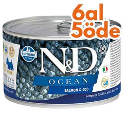 N&D (Naturel&Delicious) - ND Mini Ocean Alabalık ve Somonlu Köpek Konservesi 140 Gr - 6 Al 5 Öde