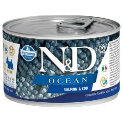 N&D (Naturel&Delicious) - ND Mini Ocean Alabalık ve Somonlu Köpek Konservesi 140 Gr
