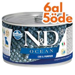 N&D (Naturel&Delicious) - ND Mini Ocean Morina Balık ve Balkabaklı Köpek Konservesi 140 Gr - 6 Al 5 Öde