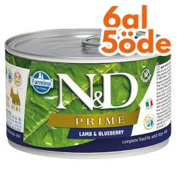 N&D (Naturel&Delicious) - ND Mini Prime Kuzu Etli ve Yaban Mersinli Köpek Konservesi 140 Gr - 6 Al 5 Öde