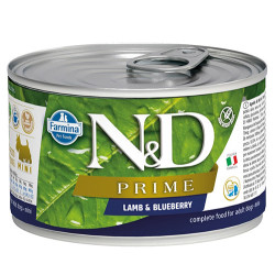 N&D (Naturel&Delicious) - N&D Mini Prime Kuzu Etli ve Yaban Mersinli Köpek Konservesi 140 Gr