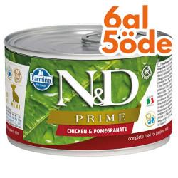 N&D (Naturel&Delicious) - ND Mini Prime Tavuk ve Nar Köpek Konserve Maması 140 Gr - 6 Al 5 Öde