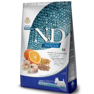 ND Ocean Düşük Tahıl Balık Portakal Küçük Irk Köpek Maması 2,5 Kg + 5 Adet Temizlik Mendili