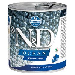 N&D (Naturel&Delicious) - N&D Ocean Levrek ve Mürekkep Balıklı Köpek Konservesi 285 Gr