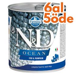 N&D (Naturel&Delicious) - ND Ocean Morina Balıklı ve Balkabaklı Köpek Konservesi 285 Gr - 6 Al 5 Öde