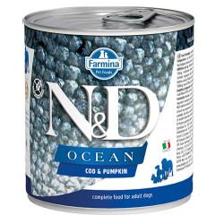 N&D (Naturel&Delicious) - N&D Ocean Morina Balıklı ve Balkabaklı Köpek Konservesi 285 Gr - 6 Al 5 Öde