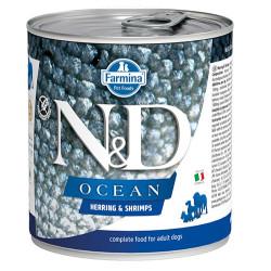 N&D (Naturel&Delicious) - N&D Ocean Ringa Balıklı ve Karidesli Köpek Konservesi 285 Gr - 6 Al 5 Öde