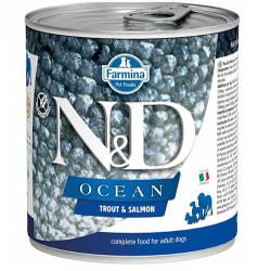 N&D (Naturel&Delicious) - N&D Ocean Somon ve Alabalıklı Köpek Konservesi 285 Gr - 6 Al 5 Öde