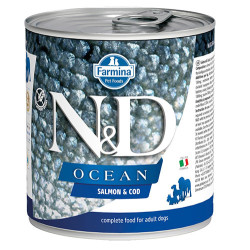 N&D (Naturel&Delicious) - N&D Ocean Somon ve Morina Balıklı Köpek Konservesi 285 Gr