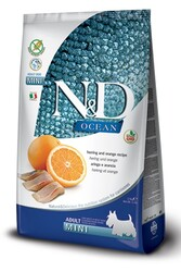 N&D (Naturel&Delicious) - ND Ocean Tahılsız Balık Portakal Küçük Irk Köpek Maması 2,5 Kg + 5 Adet Temizlik Mendili