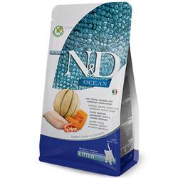 N&D (Naturel&Delicious) - ND Ocean Tahılsız Kitten Morina Balığı ve Karides Yavru Kedi Maması 5 Kg + 10 Adet Temizlik Mendili