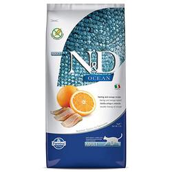 N&D (Naturel&Delicious) - ND Ocean Tahılsız Ringa Balık ve Portakal Kedi Maması 10 Kg + 10 Adet Temizlik Menidili